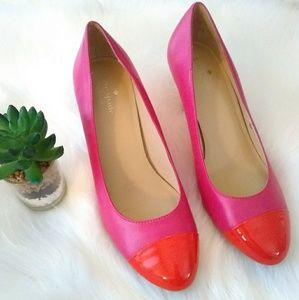 Kate Spade New York sz 8.5 M pink & Red round Toe